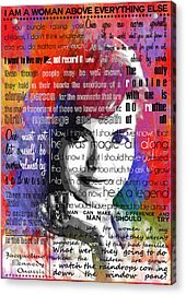 Jackie Kennedy Motivational Inspirational Independent Quotes 2 Acrylic Print by Diana Van