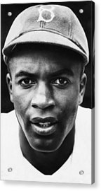 Jackie Robinson, Brooklyn Dodgers, 1947 Acrylic Print by Everett