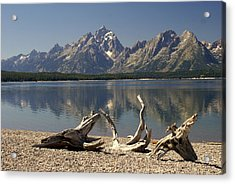 Jackson Lake 1 Acrylic Print by Marty Koch