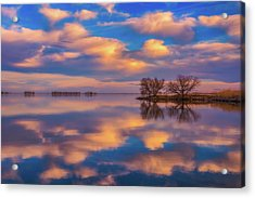 Acrylic Print featuring the photograph Jackson Lake Sunset by Darren White