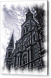 Jackson Square Cathedral Acrylic Print by Linda Kish