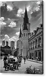 Jackson Square In Black And White Acrylic Print