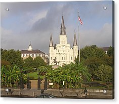 Jackson Square Morning Acrylic Print by Jack Herrington
