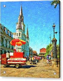 Jackson Square Oil Acrylic Print by Steve Harrington