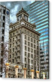 Jackson Tower Portland Oregon Acrylic Print