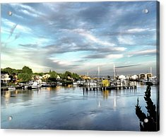 Hampton Bays Marina Acrylic Print