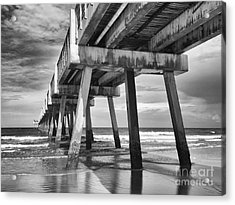 Jacksonville Beach Florida Usa Pier Acrylic Print by Vizual Studio