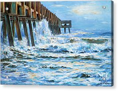 Jacksonville Beach Pier Acrylic Print
