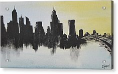 Acrylic Print featuring the painting Jacksonville Florida by Gary Smith