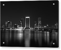 Jacksonville Landing At Night Acrylic Print by Sharon Batdorf
