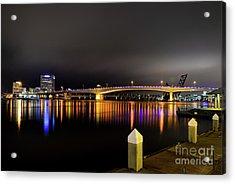 Jacksonville Night Sky Acrylic Print