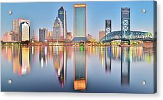 Jacksonville Reflecting Acrylic Print by Frozen in Time Fine Art Photography
