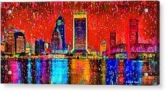 Jacksonville Skyline 103 - Pa Acrylic Print by Leonardo Digenio