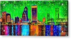 Jacksonville Skyline 106 - Pa Acrylic Print by Leonardo Digenio
