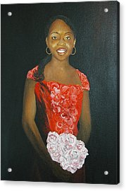 Jaclyn Acrylic Print by Angelo Thomas