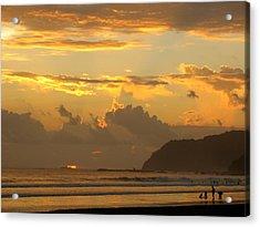 Jaco Sunset Acrylic Print by Daniel  Taylor