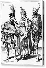 Jacob De Gheyn: The Masks Acrylic Print by Granger