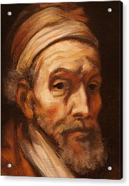 Jacob Trip After Rembrandt Closeup Of Face Acrylic Print
