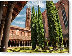 Acrylic Print featuring the photograph Jacobin Convent In Toulouse by Elena Elisseeva