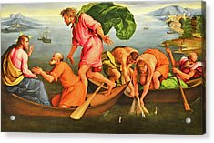 Acrylic Print featuring the photograph Jacopo Bassano Fishes Miracle by Munir Alawi
