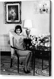 Jacqueline Kennedy, Circa. 1960s Acrylic Print by Everett