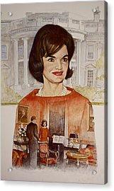 Jacqueline Kennedy Onassis  Acrylic Print by Cliff Spohn