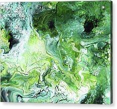 Jade- Abstract Art By Linda Woods Acrylic Print