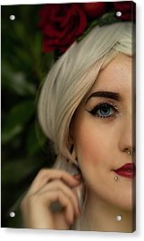 Jade Close Crop Acrylic Print