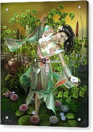Jade Acrylic Print by Mary Hood