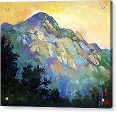 Jade Mountain Acrylic Print