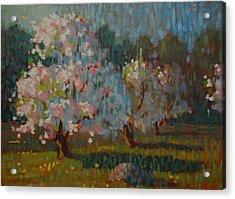 Jaeschke Orchard Acrylic Print by Len Stomski