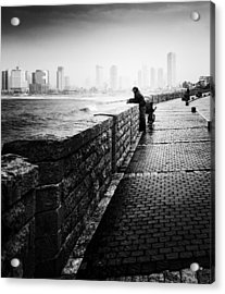 Jaffa Port Acrylic Print by Hayato Matsumoto