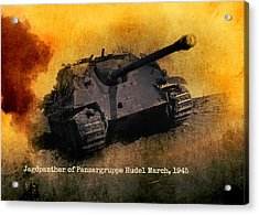 Acrylic Print featuring the digital art Jagdpanther German Ww2 Tank by John Wills