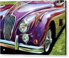 Jaguar 140 Coupe Acrylic Print by David Kyte