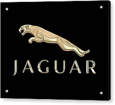 Jaguar Car Emblem Design Acrylic Print by Walter Colvin