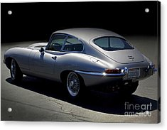Jaguar E-type Nocturne Acrylic Print by Curt Johnson