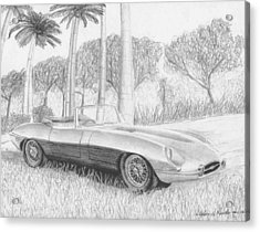 Jaguar E-type Series 1 Sports Car Art Print Acrylic Print