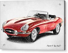 jaguar e type drawing by taylan apukovska. Black Bedroom Furniture Sets. Home Design Ideas