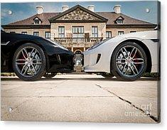 Jaguar F-type - Black And White Acrylic Print