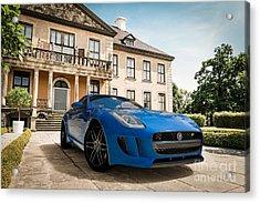 Jaguar F-type - Blue - Villa Acrylic Print