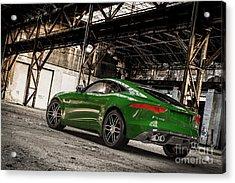 Jaguar F-type - British Racing Green - Rear View Acrylic Print