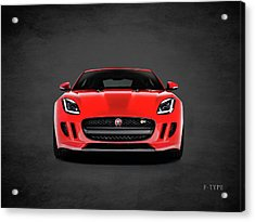 Jaguar F Type Acrylic Print by Mark Rogan