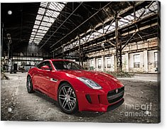 Jaguar F-type - Red - Front View Acrylic Print