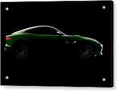 Jaguar F-type - Side View Acrylic Print