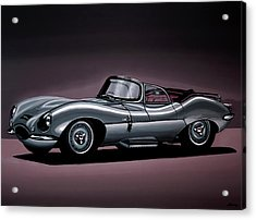 Jaguar Xkss 1957 Painting Acrylic Print by Paul Meijering