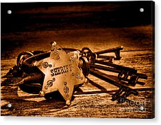 Jailer Tools - Sepia Acrylic Print by Olivier Le Queinec
