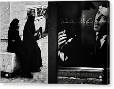 J'aime L'acte D'a?crire (ou De Dessiner) Acrylic Print by Yvette Depaepe