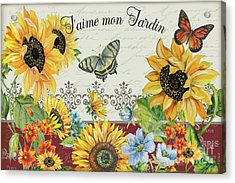 Acrylic Print featuring the painting Jaime Mon Jardin-jp3990 by Jean Plout