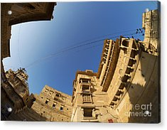 Acrylic Print featuring the photograph Jaisalmer Fort by Yew Kwang