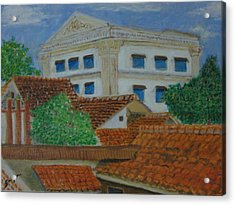 Jakarta Roofs Acrylic Print by SAIGON De Manila